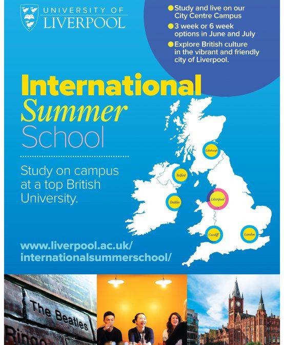 University  of Liverpool International Summer School (ISS) Seminar