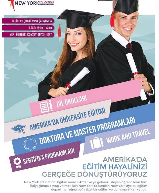 Amerika'da Eğitim Fırsatları Semineri – NewyorkEdu