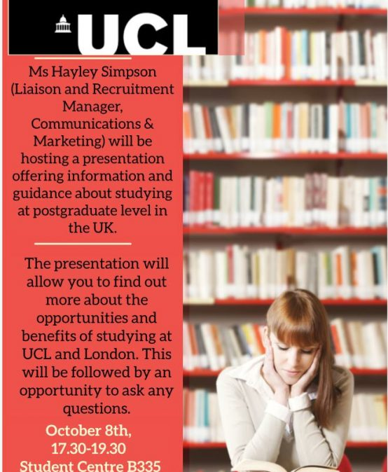 Study Abroad Seminars | University College London – Fall 2018